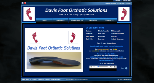 DAVIS FOOT ORTHOTICS